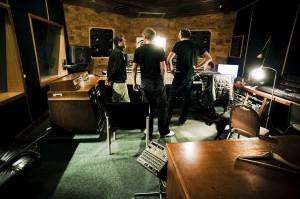 groep in studio